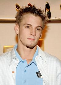 Aaron Carter at the Asprey's shopping event.
