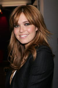 Actress Mandy Moore backtage during MTV's Total Request Live in N.Y.
