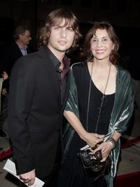 Robert Schwartzman and Talia Shire at the premiere of