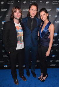 Robert Schwartzman, director Lee Toland Kreiger and Naomi Scott at the after party of the California premiere of