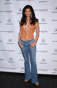 Roselyn Sanchez at Mercedes Benz Fashion Week.