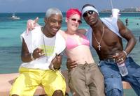 Sisqo, Singer Pink and Rapper Tyrese at the photo shoot of MTV's Spring Break 2000.