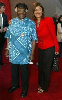 Desmond Tutu and Prudence Soloman at the Tribeca Film Festival.