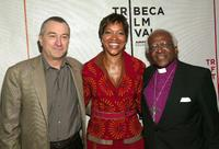 Robert De Niro, Grace Hightower and Desmond Tutu at the VIP Opening Luncheon during the Tribeca Film Festival.