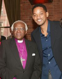 Desmond Tutu and Will Smith at the VIP Opening Luncheon during the Tribeca Film Festival.