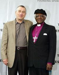 Robert De Niro and Desmond Tutu at the Third Annual Tribeca Film Festival.