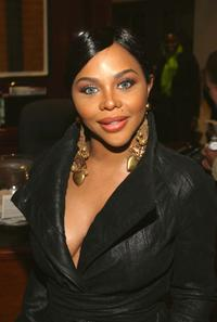 Lil' Kim at the Cassandra Mills Launch Of Haute Cosmetics.