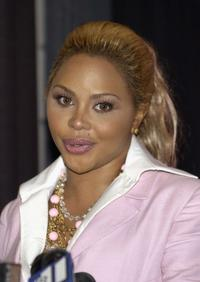 Lil' Kim at the press conference to announces a foundation and website to provide regular updates to her fans.