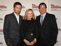 Topher Grace, producer Laura Ziskin and Steve Guttenberg at the