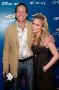 Steve Guttenberg and Anna Gilligan at the Buzz Party before the U.S. Open women's singles final.