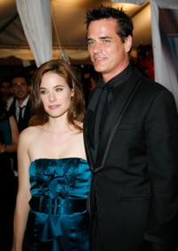 Caroline Dhavernas and Director Paul Gross at the premiere of