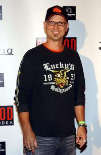George Gray at the Von Dutch Originals head designer Christian Audigiers birthday celebration.