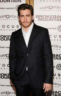 "Jake Gyllenhaal at the premiere of ""Brokeback Mountain"" in Westwood, California."