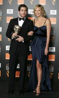 Jake Gyllenhaal and Charlize Theron at the Orange British Academy Film Awards.