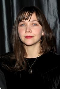 Maggie Gyllenhaal at the 2007 New York Film Critic's Circle Awards.