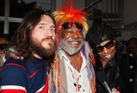 John Frusciante, George Clinton and Sly Stone at Clinton's 67th birthday party.