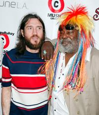 John Frusciante and George Clinton at Clinton's 67th birthday party.