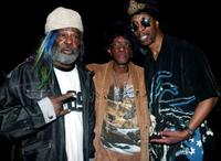 George Clinton, Bernie Worrell and Bootsy Collins at the 46th Annual Grammy Awards.