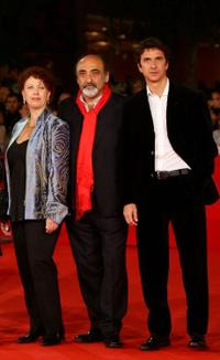Paola Tiziana Cruciani, Alessandro Haber and Blas Roca-Rey at the premiere of