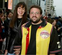 Jennifer Schwalbach Smith and Kevin Smith at the premiere of