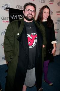 Kevin Smith and Jennifer Schwalbach Smith at the screening of