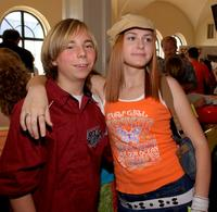 Steven Anthony Lawrence and Scout Taylor-Compton at the Disney's Toontown Online Celebrity Video Game Charity Event.