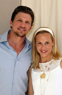 Marc Blucas and Maria Bello at the MaxMara and Women in Film award luncheon to honor actress Emily Blunt.
