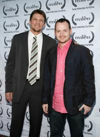 Marc Blucas and Gideon Raff at the 8th Annual Malibu International Film Festival Award Night.