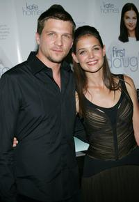 Marc Blucas and Katie Holmes at the special screening of