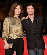 Valerie Lemercier and Jeremie Elkaim at the premiere of