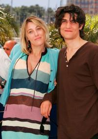 Valeria Bruni Tedeschi and Louis Garrel at the photocall of