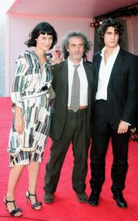 Clotilde Hesme, Philippe Garrel and Louis Garrel at the premiere of