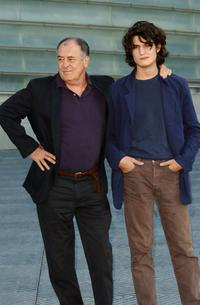 Director Beranrdo Bertolucci and Louis Garrel at the photocall of