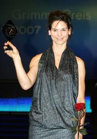 Bibiana Beglau at the Adolf Grimme Award ceremony.