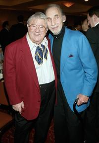 Buddy Hackett and Sid Caesar at the Friars Club of California celebration honoring Caesar on his 80th birthday.