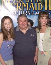 Tara Charendoff, Buddy Hackett and Jodi Benson at the premiere of