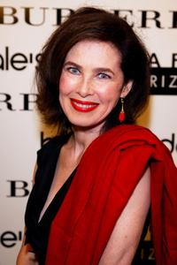 Dayle Haddon at the Burberry Accessory Shop opening reception to benefit Safe Horizon.