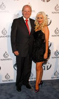 Christina Aguilera and Guest at the Nakheel Introduces Trump International Hotel and Tower Dubai party.