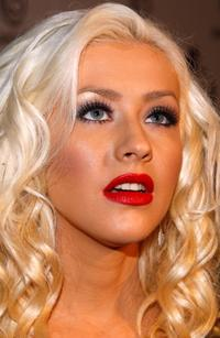 Christina Aguilera at the Nakheel Introduces Trump International Hotel and Tower Dubai party.