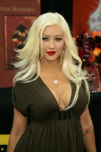 Christina Aguilera at the signing of