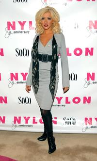 Christina Aguilera at the Nylon magazine's 8th anniversary celebration.