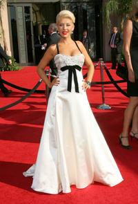 Christina Aguilera at the 59th Annual Primetime Emmy Awards.