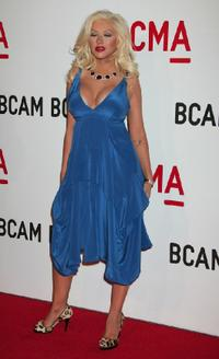 Christina Aguilera at the Broad Contemporary Art Museum opening at LACMA.
