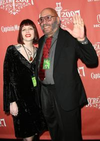 Sid Haig and guest at the Spike TV's Scream 2007.