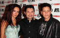 Corey Haim, Susie Feldman and Corey Feldman at the A&E premiere of