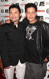 Corey Haim and Corey Feldman at the A&E Premiere of