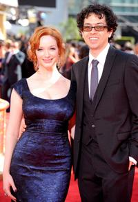 Christina Hendricks and Geoffrey Arend at the 61st Primetime Emmy Awards.
