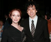Christina Hendricks and Geoffrey Arend at the premiere of