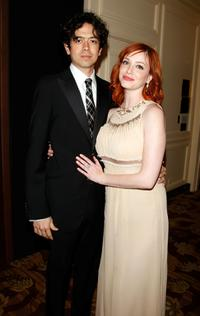 Geoffrey Arend and Christina Hendricks at the 10th Annual Costume Designers Guild Awards.