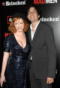 Christina Hendricks and Geoffrey Arend at the AMC & Heineken's